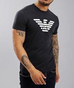 EMPORIO ARMANI GA EAGLE LOGO T-SHIRT - BLACK