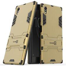 For Sony Xperia XA1 Plus Phone Case Armor Kickstand Slim Hard Cover Gold / Black