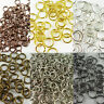 Jump Rings 1mm Gauge Antique Copper Silver Bronze Gold Various Sizes