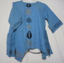 Womens Mudcloth vintage  dashiki Shirt African Blouse Organic Cotton plus Size