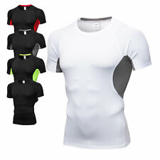 Men's Athletic Compression T-Shirt Sports Casual Short Sleeve Stretchy Tight fit