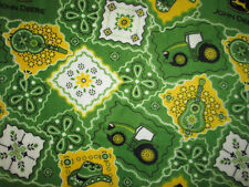 JOHN DEERE TRACTORS GUITARS MUSIC COWBOY HAT LOGO FLEECE FABRIC OOP