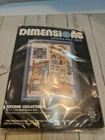 Counted Cross Stitch Kit Kitchen Collectibles 6534 Daniel Gorman Dimensions