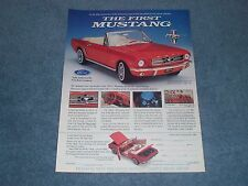 1995 Franklin Mint 1964 1/2 Mustang Convertible Vintage Die-Cast Ad