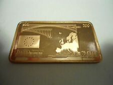 BANCONOTA DA EURO 200  MM 50,15 X 28,13 X MM 3,05