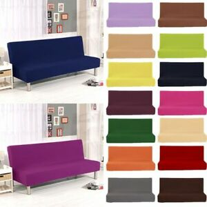 Futon Slipcover Armless Sofa Cover Stretch Full Folding Bed Protector Elastic
