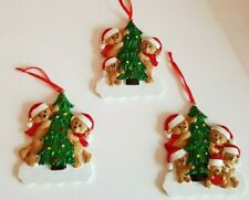 Personalised Christmas Tree Decoration Bear Family with Christmas Tree 2-5