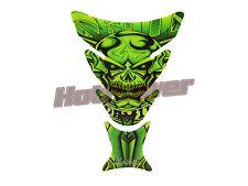 Green tank pad suzuki honda harley davidson chopper kawasaki  skull grim reaper