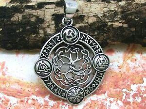 Baum des Lebens Anhänger 925 Silber Ø 2,9 cm Triskele Wotans Knoten Runen