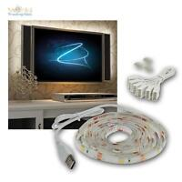 """TV Hintergrundbeleuchtung LED warmweiß SET fü 42-65"""" 107-165cm Fernseher Ambient"""