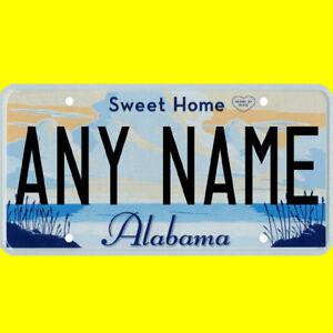 Ride-on battery powered vehicle license plate - custom Alabama design