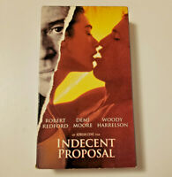 Indecent Proposal VHS 1993 Robert Redford Woody Harrelson