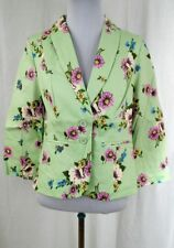 NEW Modcloth Snappy Studies Blazer in Bouquets XXS Mint Floral 3/4 Sleeve Length