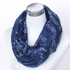 Schal Damen Tuch Noten Musik Blau