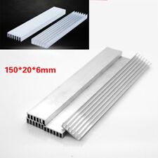 10Pcs 150x20x6mm Aluminum Heat Sink Long LED Cooling Fin Power IC Transistor