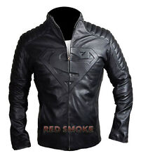 New Superman Smallville Man of Steel Unisex Black Biker Quality Leather Jacket