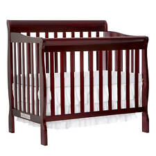 4 in 1 Baby Crib Bed Convertible Nursery Portable Toddler Furniture Cherry