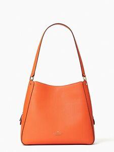 kate spade new york Jackson Leila Medium Shoulder Bag with long straps coral