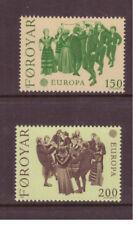 Faroe Islands Mnh 1981 Europa ,Folklore Dances set mint stamps