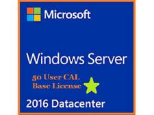 Windows Server 2016 DATACENTER 16core/2cpu+RDS 50 USER CALS✔Base License+Cals✔