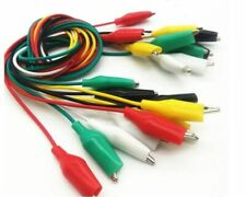 10pcs Head Head Small Alligator Clip Test Line Lead Jump Wire Electronic Cable