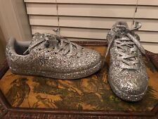 Cape Robbin silver all over sequin bling silver sneakers women size 7 M NICE!