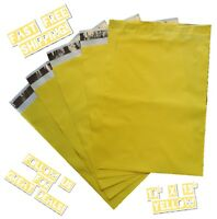 upaknship 10x13 Yellow poly mailers shipping envelopes