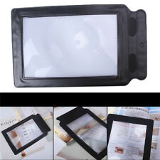 A5 Full Page 3x Magnifier Sheet Large Magnifying Glass Book Reading Aid Lens New