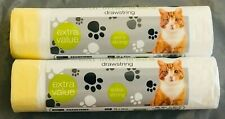 More details for cat litter tray liners  drawstring bags extra strong hygienic roll 70x45cm