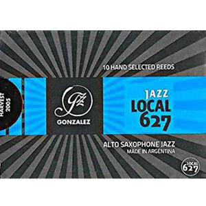 Gonzalez Eb Alto Saxophone 'Local 627' Jazz Reeds Strength 3, Box of 10