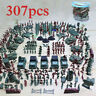307Pcs Military Missile Base Model Playset Toy Soldier Green Figure Army Men Set