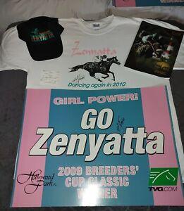 Unbelievable Zenyatta LOT! Mike Smith Auto Tee, Poster, Bet Slip, Program, Hat!!