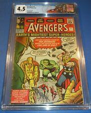 Avengers #1 CGC 4.5 Marvel 1963 1st Appearance! UK! RARE! Thor! Hulk! K10 201 cm