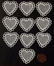 Cotton Heart Appliques/Embellishments 10pcs
