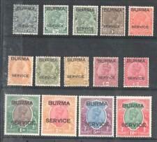 KS 1937 INDIA BIRMA !!! RARE OVERPRINT !!! SG01-014 950£ MLH