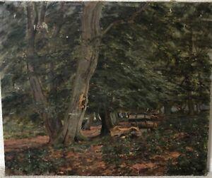 🔥 Antique California Plein Air Impressionist Landscape Oil Painting, 1921