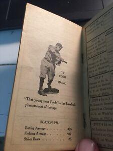 1912 Whites Yucatan Gum Baseball American League Pocket Schedule W/ Ty Cobb