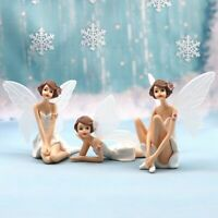 Flower Fairy Girl 3 PCS Action Figure Kids Toy Doll Gift Cake Toppers Decor