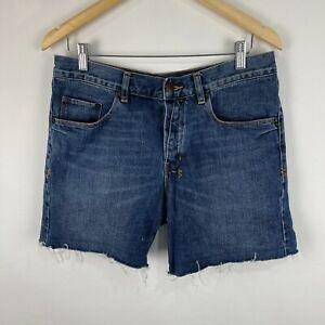 Ksubi Mens Denim Shorts 28 Blue Button Closure Denim Cut-Off