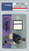 Randy Johnson Arizona Diamondbacks Signed 2000 Upper Deck SP Relic #H-RJ Card