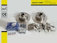 FOR VW PASSAT ESTATE REAR LEFT RIGHT BRAKE CALIPERS DISC DISCS MEYLE PADS SET