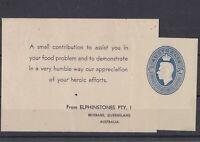 APD442) Australia 1946 5/10d pale blue Food for Britain label, mint unhinged