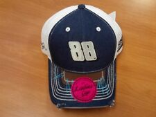 Dale Earnhardt Jr  #88 NASCAR Ball Cap Hat NEW White & Denim Ladies