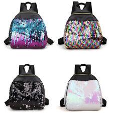 Women Girls Glitter Sequins Backpack College School Travel Rucksack Shoulder Bag