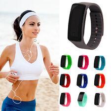 Black Men/Women Sport LED Waterproof Rubber Bracelet Digital Wrist Watch 1x