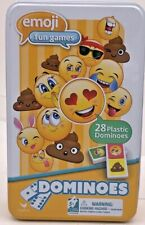Emoji Dominoes Game Domino Family Kids Travel Board Emoji Party Toys Tin Play