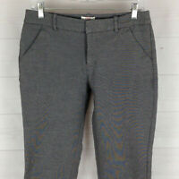 MERONA womens size 6 x 25 stretch gray flat front mid rise cropped tapered pants