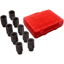 9pcs Deep Impact Axle Hub Nut Socket Set 12 Drive 29 38mm