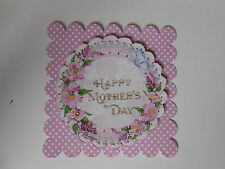 PK 2 BEAUTIFUL FLOWERS FOR MOTHERS DAY EMBELLISHMENT TOPPERS FOR CARDS/CRAFT