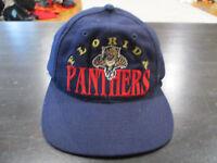 VINTAGE The Game Florida Panthers Snap Back Hat Cap Blue NHL Hockey Mens 90s